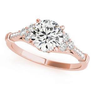 Stella Diamond Engagement Ring in 14K Rose Gold