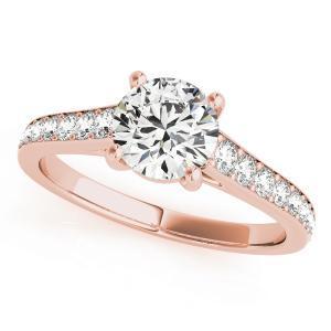 Kate Diamond Engagement Ring in 14K Rose Gold
