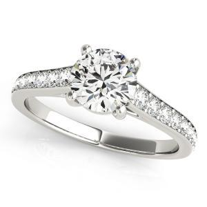 Kate Diamond Engagement Ring in 14K White Gold