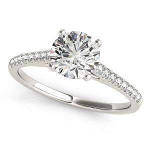 Irene Diamond Engagement Ring in 14K White Gold