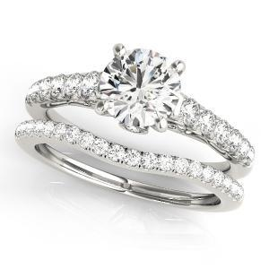 Sara Diamond Engagement Ring with Wedding Ring in 14K White gold