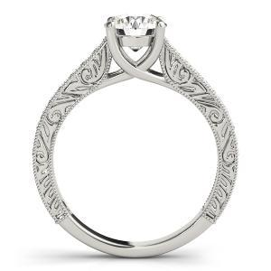 Vienna Vintage Diamond Engagement Ring with Wedding Ring in 14K White Gold