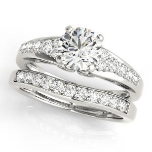 Felice Diamond Engagement Ring with Wedding Ring in 14K White gold