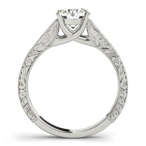 Florence Vintage Solitaire Diamond Engagement Ring with Wedding Ring in 14K White Gold