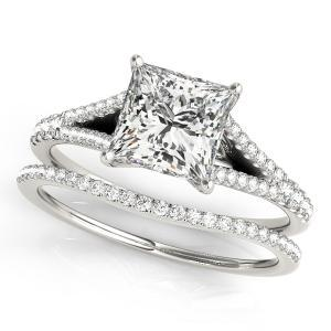 Julia Diamond Engagement Ring with Wedding Ring in 14K White Gold