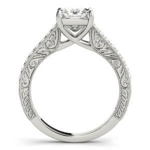 Lilac Vintage Diamond Engagement Ring with Wedding Ring in 14K White Gold