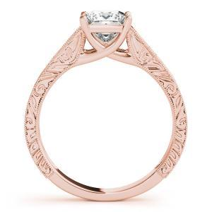Ashton Vintage Solitaire Diamond Engagement Ring with Wedding Ring in 14K Rose Gold
