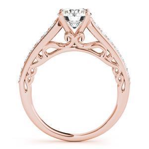 Lisa Diamond Engagement Ring with Wedding Ring in 14K Rose Gold