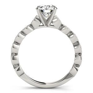 Annette Vintage Diamond Engagement Ring with Wedding Ring in 14K White Gold