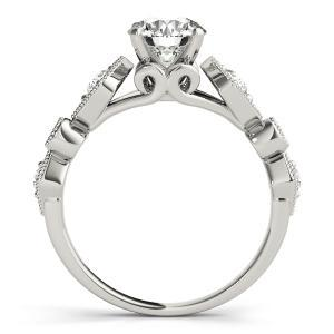 Sofia Vintage Diamond Engagement Ring with Wedding Ring in 14K White Gold