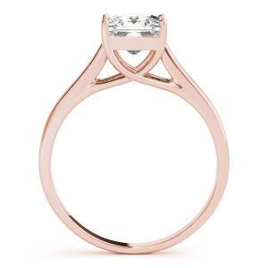 Elixir Solitaire Diamond Engagement Ring with Wedding Ring in 14K Rose Gold