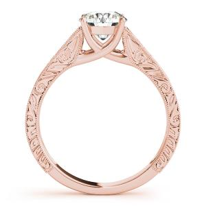 Florence Vintage Solitaire Diamond Engagement Ring in 14K Rose Gold