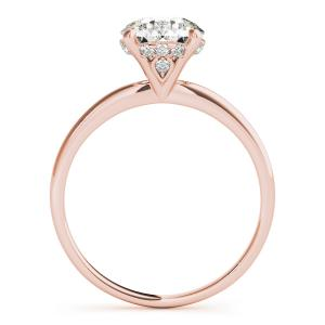 Alecia Solitaire Diamond Engagement Ring in 14K Rose Gold