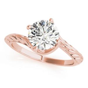 Laura Vintage Solitaire Diamond Engagement Ring in 14K Rose Gold