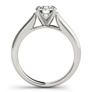Ava Solitaire Diamond Engagement Ring in 14K White Gold